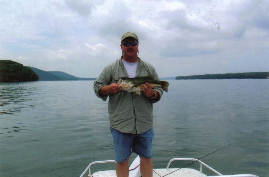 A huge largemouth for Trout fishing in alabama